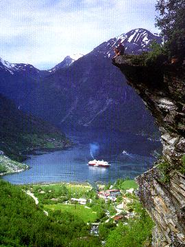 mount, Mountains, Lake, sunset, Noruega travel and tourism